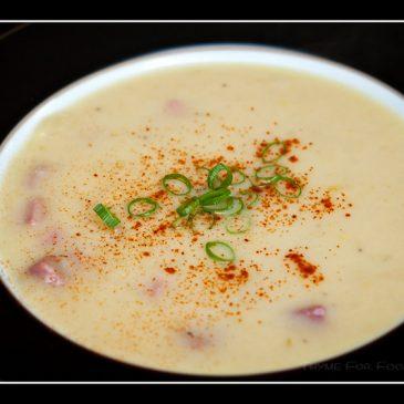 Leek and Potato Soup with Ham