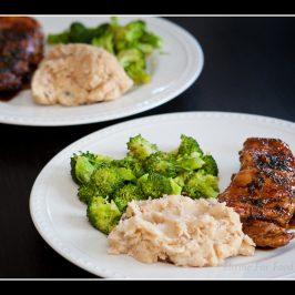 Basil Glazed Chicken and Sauteed Broccoli
