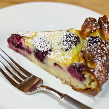 Blackberry-Limoncello Clafoutis