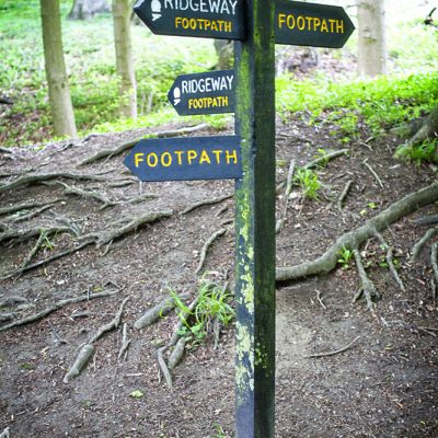 Trail sign post