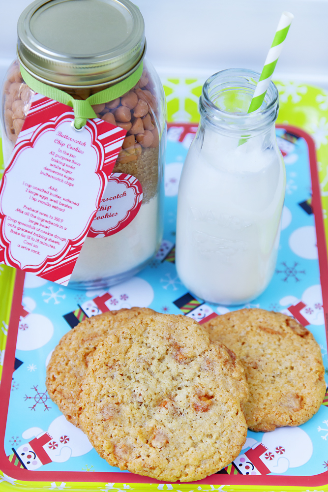 Butterscotch Chip Cookies in a Jar