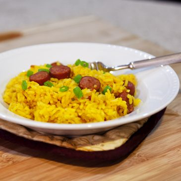 Quick Meal: Yellow Rice and Hotdogs