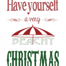 Very Beachy Christmas (Color) – Downloadable Print