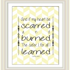 And if My Heart… – Dorothy Parker Quote Downloadable Print