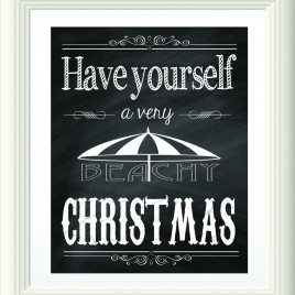 Very Beachy Christmas – Downloadable Print