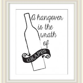 Hangover… – Dorothy Parker Quote Downloadable Print