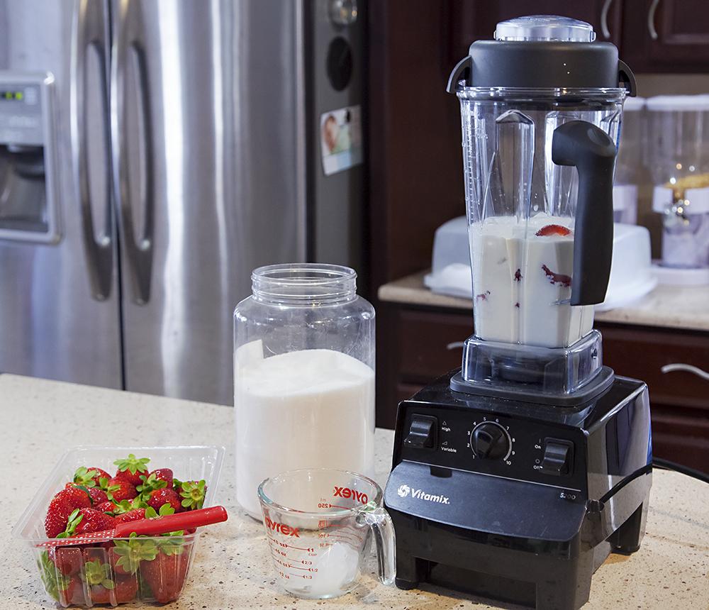 Making Strawberries and Cream Milkshakes