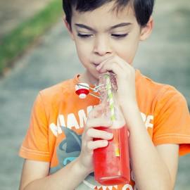 Yeast-Carbonated Strawberry Soda