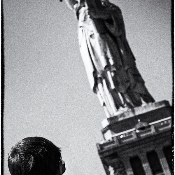 Admiring Lady Liberty