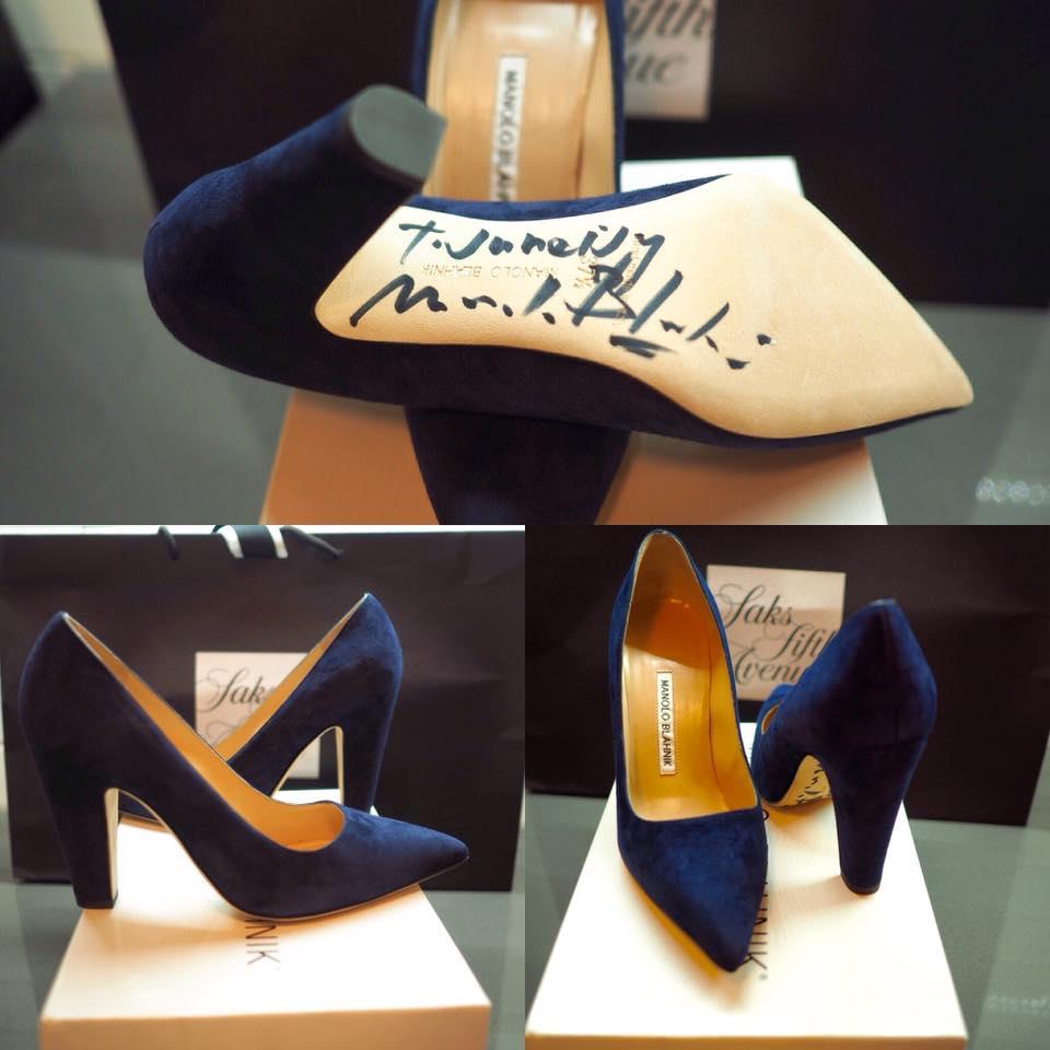 Manolo Blahnik Shoes with Autograph