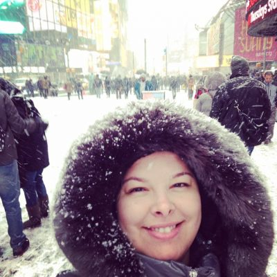 Visited New York City on the coldest weekend in years.