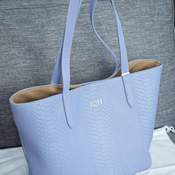 GiGi New York Teddie Tote in Meadow Lilac, personalized and free with the Welby Satchel