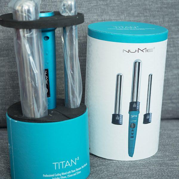 NuMe Titan 3 interchangeable curling wand set