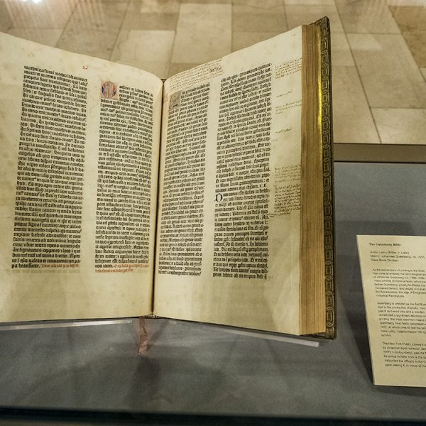 Gutenberg Bible at the New York Public Library