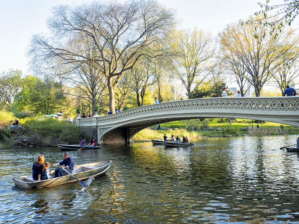 The Lake and Bow Bridge, Central Park