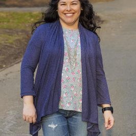 Simplicity 2603: The Waterfall Cardigan, or DKNY Cozy Knock-Off