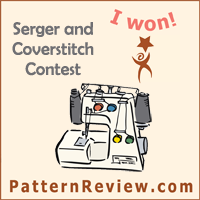 Pattern Review Serger and Coverstitch Contest: I Won!