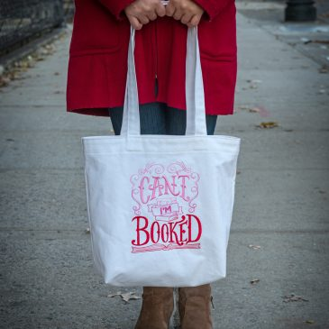 I'm Booked Canvas Tote