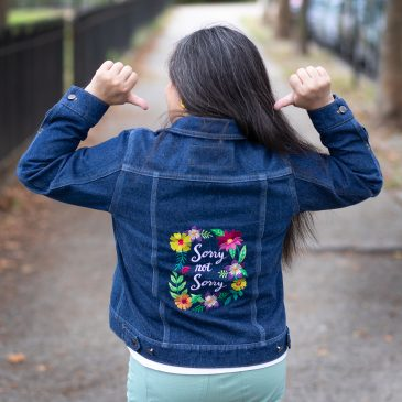 Embroidered Alina Sewing Design Co. Hampton Jean Jacket