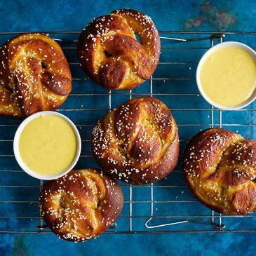 Soft Pretzels with Honey Mustard Dip